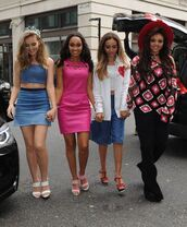 dress,pink dress,pink,little mix,leigh-anne pinnock,perrie edwards,jesy nelson,blouse,pants,shoes,top,skirt,jade thirlwall