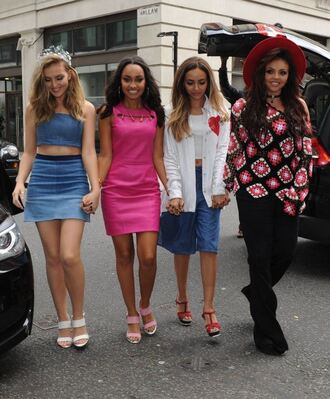 dress pink dress pink little mix leigh-anne pinnock perrie edwards jesy nelson blouse pants shoes top skirt jade thirlwall