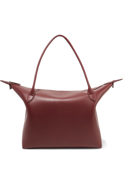 The Row leather burgundy bag
