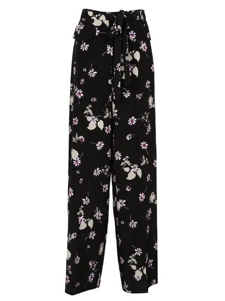 Valentino floral black pants