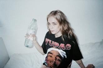 shirt tupac black t-shirt