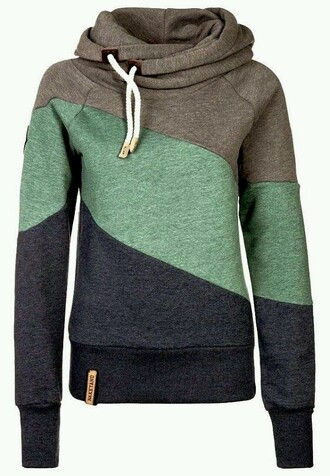 sweater gray blue green striped