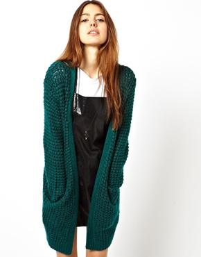 ASOS | ASOS Longline Cardigan in Chunky Stitch at ASOS