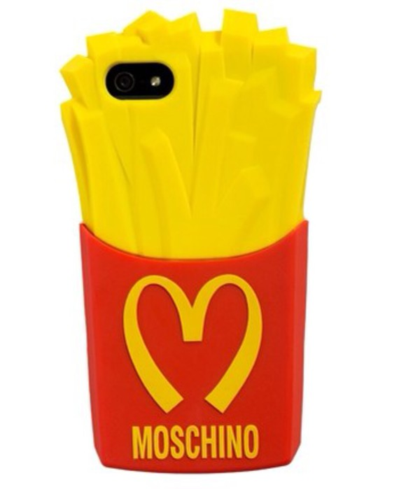 phone cover moschino mcdonalds