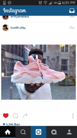 shoes baby pink nike air huaraches pink nike air huaraches custom shoes pastel pink nike nike sneakers nike huarache huarache pink pink sneakers pink nike shoes