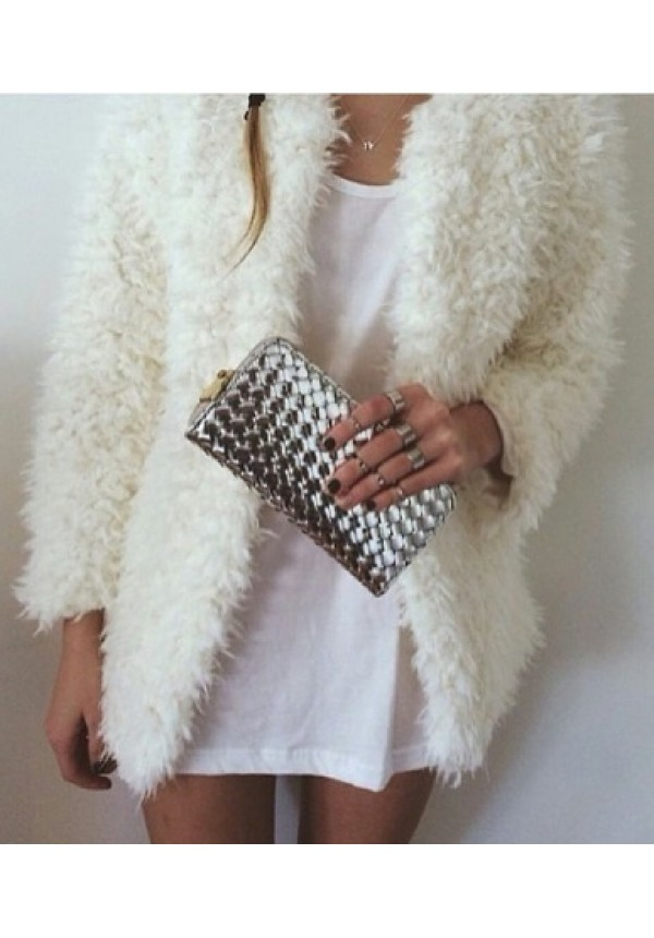 Our ashley faux fur cardigan is perfect for cool fall mornin