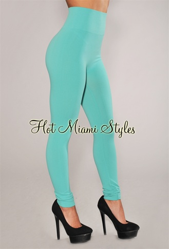Aqua Seamless High-Waist Leggings
