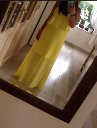 dress yellow dress long dress