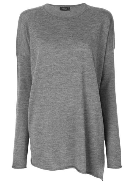 Cividini jumper loose women fit wool grey sweater