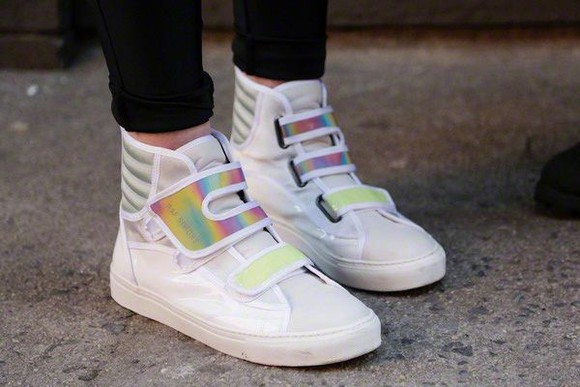 shoes white shoes white sneakers sneakers holographic