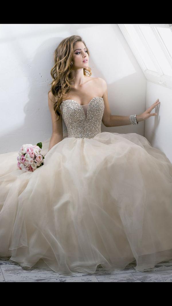 wedding dress sequin dress prom dress dress pompon dess