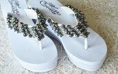 shoes,slippers,wedding,flip-flops,wedding shoes,bridal flip flops