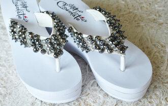 shoes slippers wedding flip-flops wedding shoes bridal flip flops