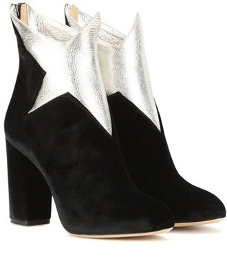 leather ankle boots boots ankle boots leather velvet black shoes