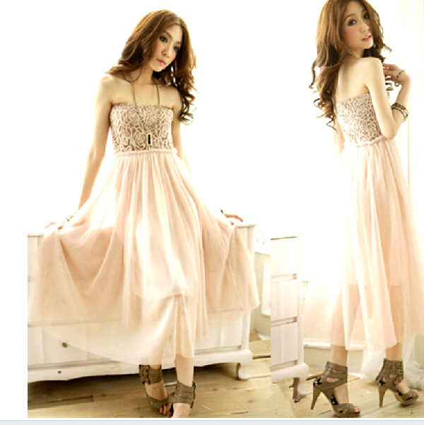 Beautiful Chiffon Summer Dresses, Strapless Chiffon Dresses, Dresses, Chiffon Dress, Long Dresses on Luulla