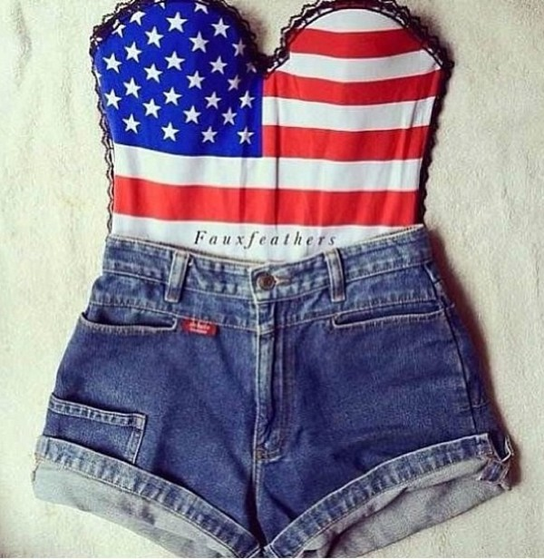 Sexy american flag shirt