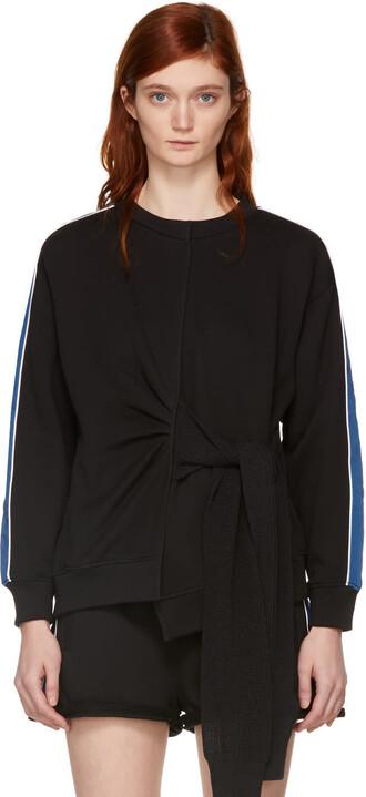 sweatshirt blue black sweater