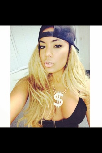 jewels kinky tazangels tazs angels tazsangles top black necklace gold gold jewelry gold necklace blonde hair