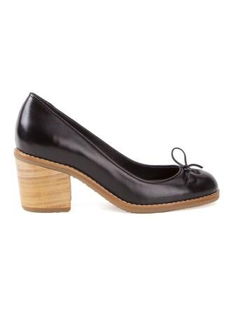 heel chunky heel women pumps black shoes
