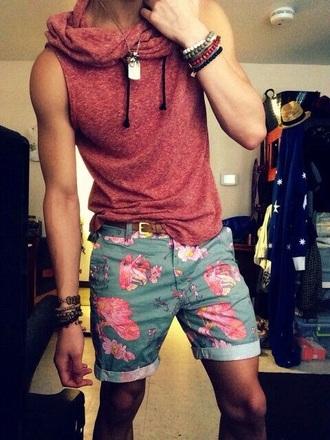 shorts floral men's floral print shorts menswear mens shorts top