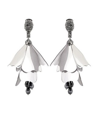 beaded earrings silver jewels