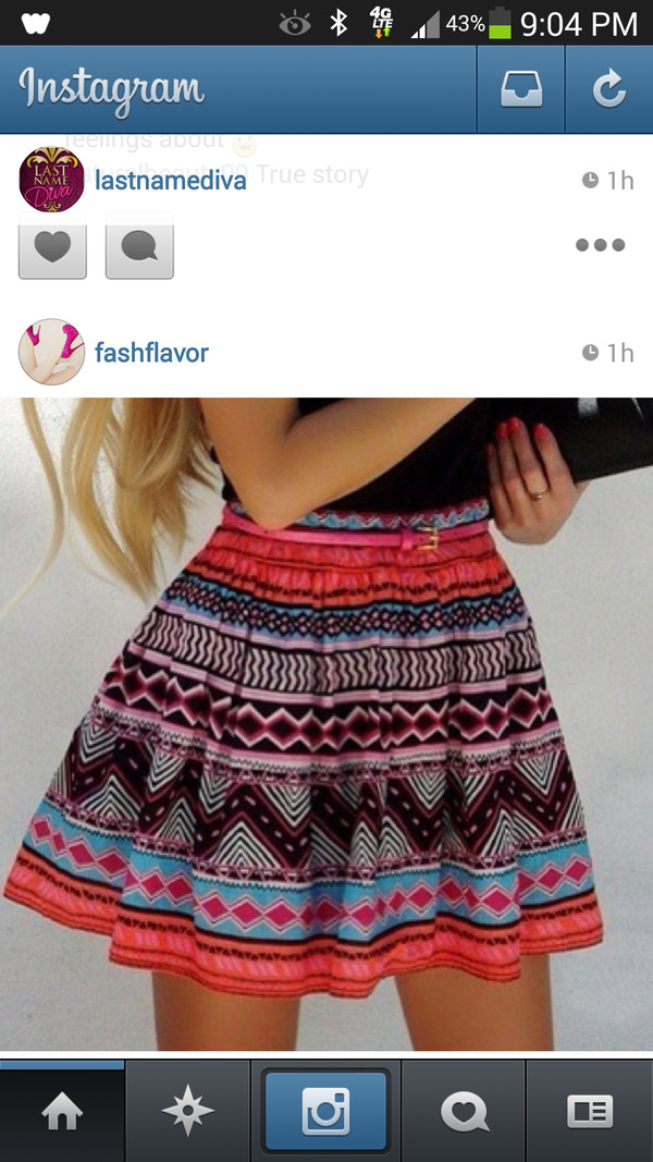 skirt tribal pattern