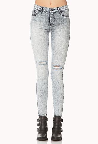 Favorite Acid Wash Skinny Jeans | FOREVER21 - 2000075206