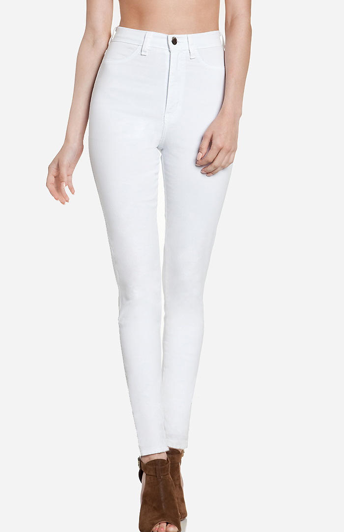 DailyLook: High Waist Skinnies in White 1 - 9