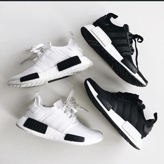 shoes adidas shoes nmd adidas black and white