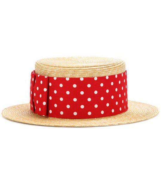 Miu Miu Straw hat in red