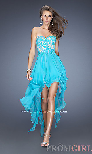 La Femme High Low Homecoming Dress- PromGirl