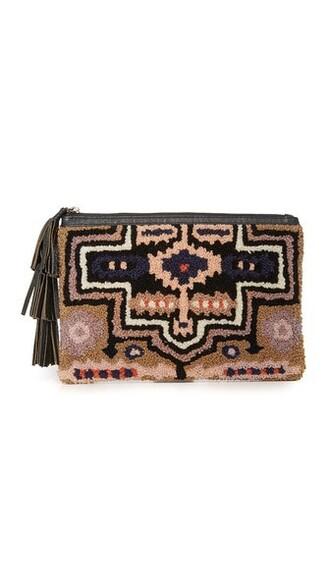 london clutch black blush bag