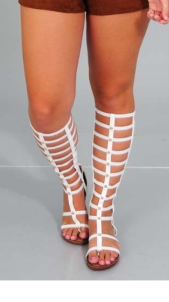 shoes white white gladiator sandals knee high gladiator sandals gladiators flat gladiator sandals