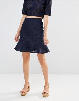 skirt mini skirt clothes lace skirt asos