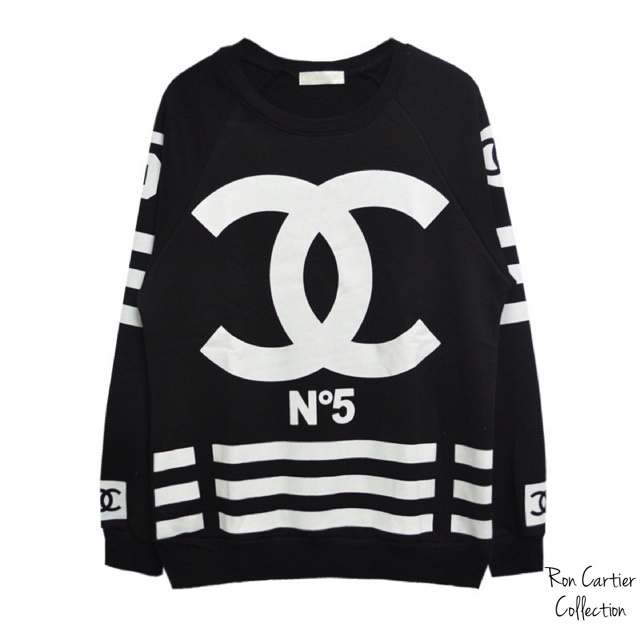 unisex chanel no 5 coco inspired sweatshirt pre order cartiers closet. Black Bedroom Furniture Sets. Home Design Ideas