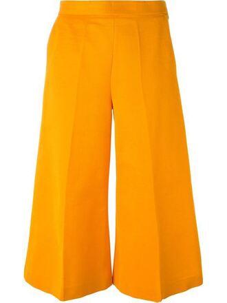 pants clothes wide-leg pants culottes