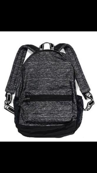 bag victoria's secret pink backpack grey