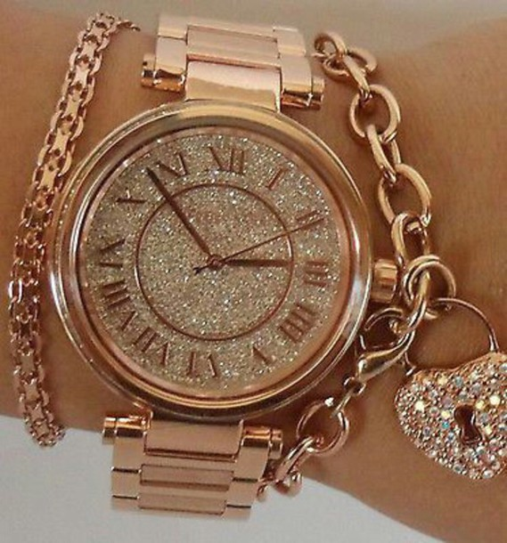 Rose Gold Diamond Watch Michael Kors