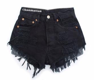 shorts black shorts ripped shorts