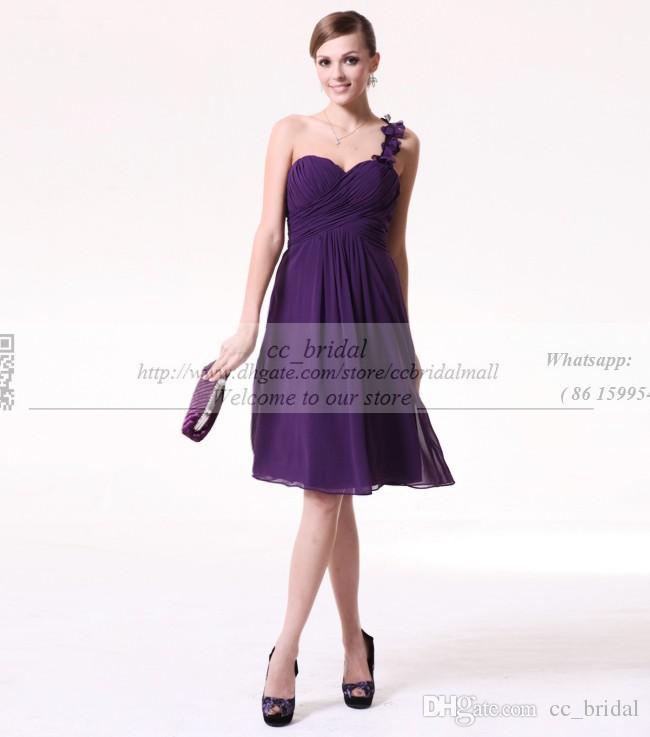 Alexia Bridesmaid Dresses Chiffon A Line Short Bridesmaid Dresses ...
