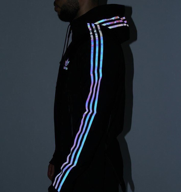 jacket adidas black tumblr tumblr outfit windbreaker holographic windbreaker sportswear reflective iridescent sweater