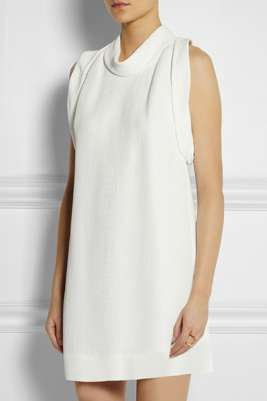 Stella McCartney | Bretta snake-effect matelassé mini dress | NET-A-PORTER.COM