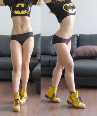 top batman black and yellow