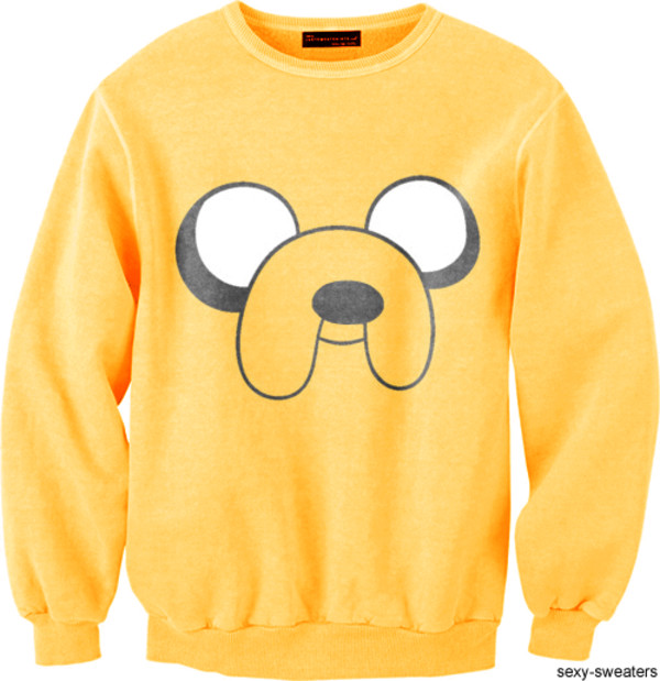 sweater sweater nice cool fashion fashion must jake jake from adventure time adventure time sweater out of stock cute adventure time jake the dog freshtops cute sweater yellow cartoon clothings