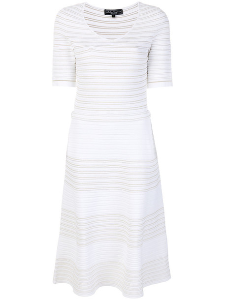 Salvatore Ferragamo dress knitted dress women white