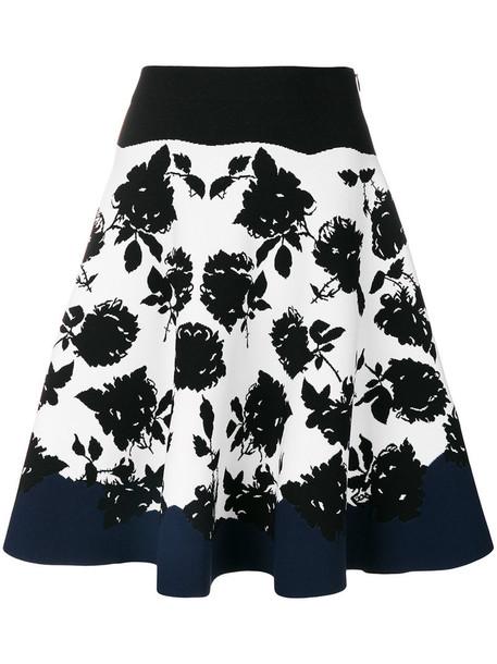 skirt women spandex floral black