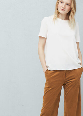 blouse white white blouse flowy flowy blouse mango