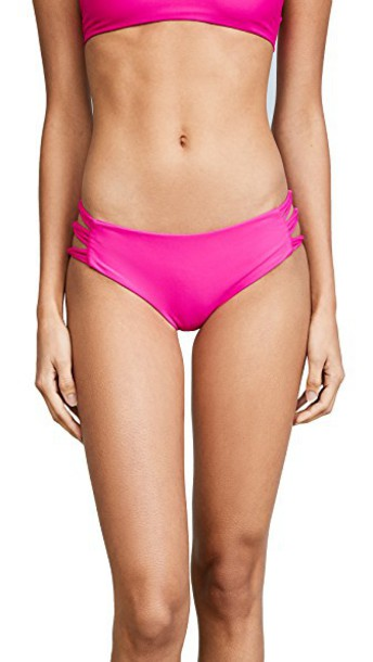 Mikoh bikini bikini bottoms pink swimwear