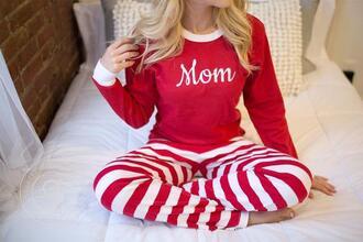 pajamas christmas pajamas christmas holiday season stripes red