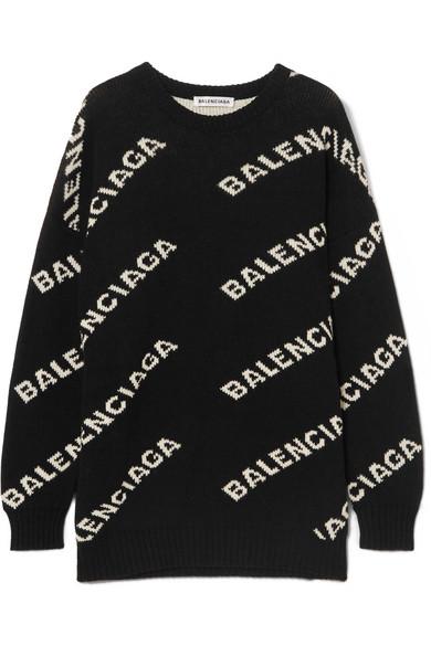 Balenciaga - Intarsia knitted sweater